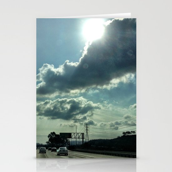 Admiring the clouds. Stationery Cards