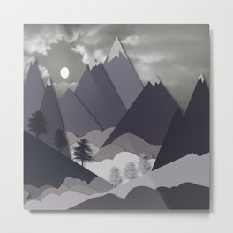 Night Mountains No. 24 Metal Print