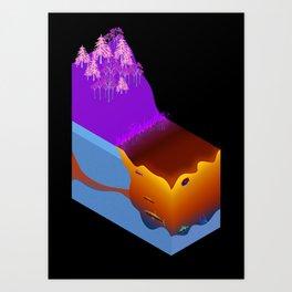 Science Diagram Art Print