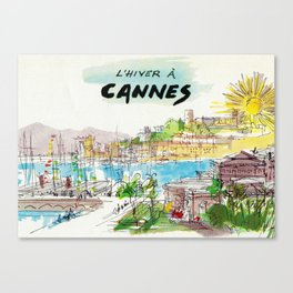 Winter In Cannes Canvas Print