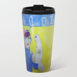Transgender Rosie the Riveter Travel Mug