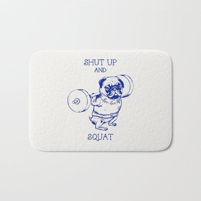 Pug Squat Bath Mat