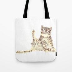 Cheeky Kitty Cat Tote Bag