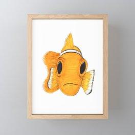 Not funny Clownfish Framed Mini Art Print
