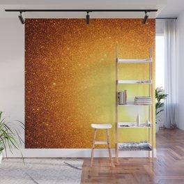 Golden Sun Stars Wall Mural