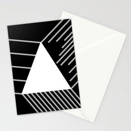 Abstraction 030 - Minimal Geometric Triangle Stationery Cards
