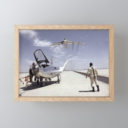 HL-10 on Lakebed with B-52 Flyby Framed Mini Art Print