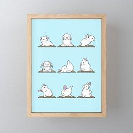 Bunnies Yoga Framed Mini Art Print