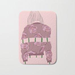 Roses and Shyness - Fashion Illustration Bath Mat