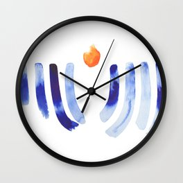 Abstract Menorah Wall Clock