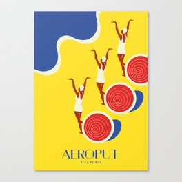 "EX-JU poster ""AEROPUT"" Canvas Print"