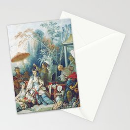 Le Jardin Chinois by François Boucher Stationery Cards