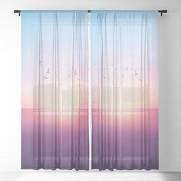 Abstract Sunset VIII Sheer Curtain