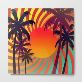 Tropical Sunset 1 Metal Print