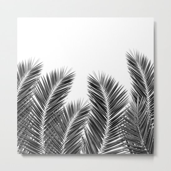 White Palm Skies Metal Print