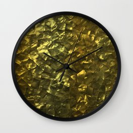 Bright Gold Mother of Pearl Nacre Pattern Wall Clock