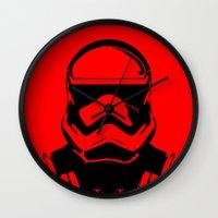 trooper Wall Clocks featuring Trooper  by Rabassa