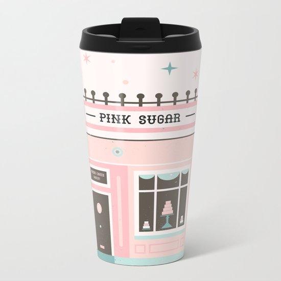 Pink Sugar Bakery  Metal Travel Mug
