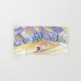 Powder Skiing Art Hand & Bath Towel