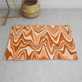 Marbled Stripes, Terracotta and Orange Rug