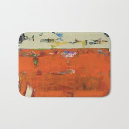 Roadrunner Bright Orange Abstract Colorful Art Painting Bath Mat