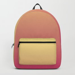 Summer Sunset Gradient Ombré Abstract Backpack