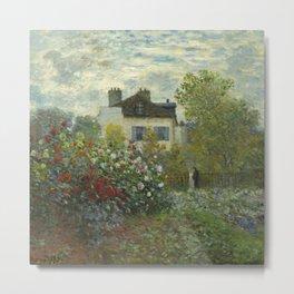 """Claude Monet """"The Artist's Garden in Argenteuil"""" Metal Print"""