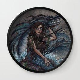 Mermaid and Sea Dragon Wall Clock