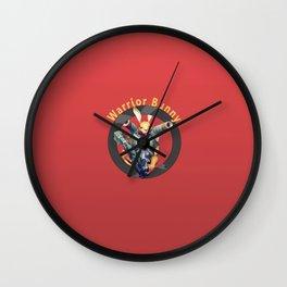 Warrior Bunny Nukem Wall Clock