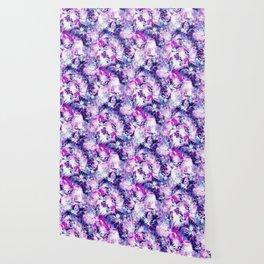 Tropical Heaven Purple Wallpaper