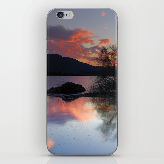 Trees in the water at the red sunset iPhone & iPod Skin