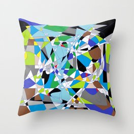 My World is Shattered Throw Pillow