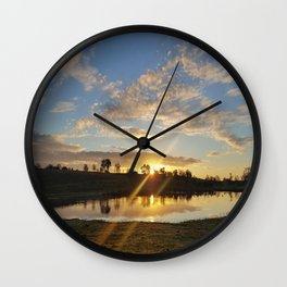 Inbetween Country and Paradise Wall Clock