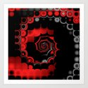 TGS Fractal Abstract in Red and Black by charmarose
