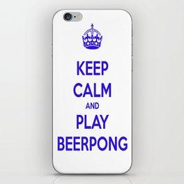 keep calm & play beerpong iPhone Skin