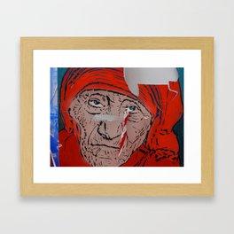 Mother Teresa crying a warning Framed Art Print