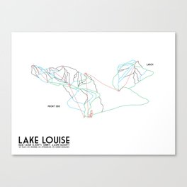 Lake Louise, Canada - Front - Minimalist Winter Trail Art Canvas Print
