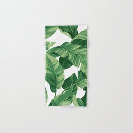 Tropical banana leaves IV Hand & Bath Towel