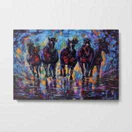 Free Roaming Wild Horses  Metal Print