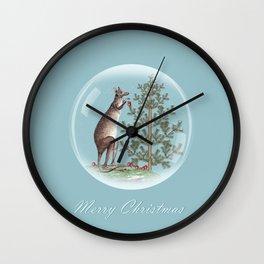 Christmas in Australia Wall Clock