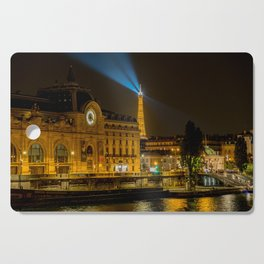 Musee d'Orsay in Paris at night Cutting Board