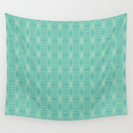 hopscotch-hex sea Wall Tapestry