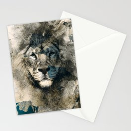 LION CAMOUFLAGE Stationery Cards
