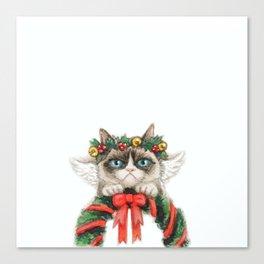 Christmas Angel Cat Canvas Print