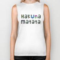 hakuna Biker Tanks featuring Hakuna Matata by angelasoto