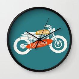 weekend pleasure riding Wall Clock