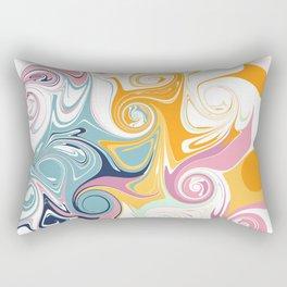 Minimalist Abstract Swirls Rectangular Pillow