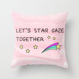 Let's star gaze Throw Pillow