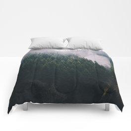 Forest Fog V Comforters