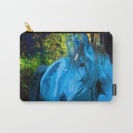 FANTASY HORSE BLUE I MET IN THE FOREST Carry-All Pouch
